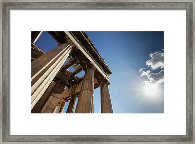 Temple Of Hephaestus  Athens, Greece Framed Print