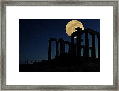 Temple Of Poseidon  Framed Print