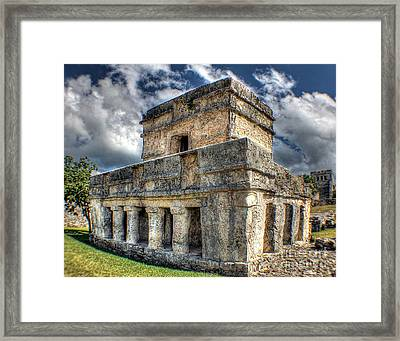 Temple Of The Frescos - Tulum Framed Print by Ines Bolasini
