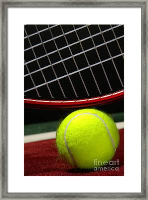 Tennis Ball Framed Print by Olivier Le Queinec