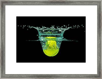 Tennis Ball Framed Print