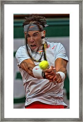 Tennis Star Rafael Nadal Framed Print by Srdjan Petrovic