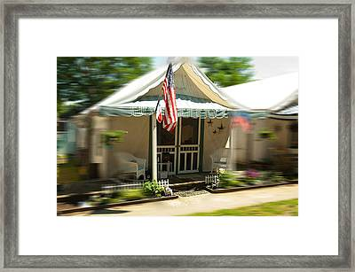 Tent City Framed Print