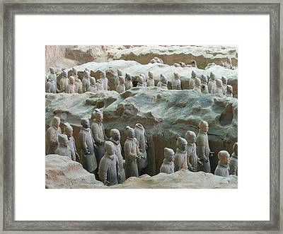 Framed Print featuring the photograph Terracotta Army by Kay Gilley