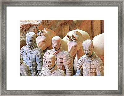 Terracotta Army Museum, Warriors Framed Print
