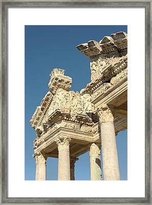Tetrapylon At Aphrodisias Framed Print by David Parker
