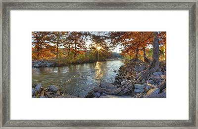 Texas Hill Country Images - Pedernales Falls State Park Sunrise  Framed Print