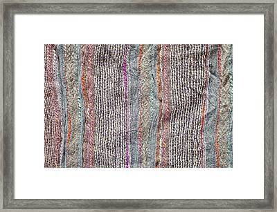 Textile Background Framed Print by Tom Gowanlock