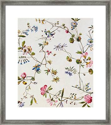 Textile Design Framed Print