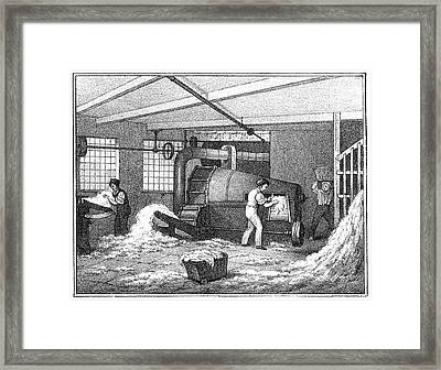 Textile Mill Cotton Framed Print