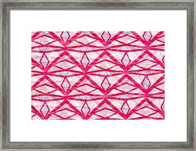 Textile Pattern Framed Print by Tom Gowanlock
