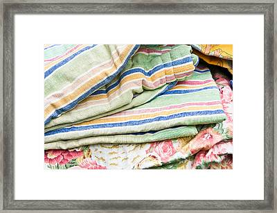 Textiles Sale Framed Print