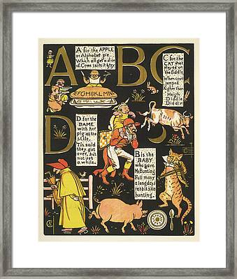 The Absurd Abc Framed Print by British Library