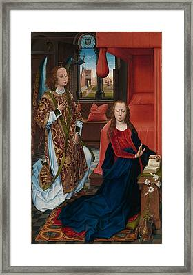 The Annunciation Framed Print by Hans Memling