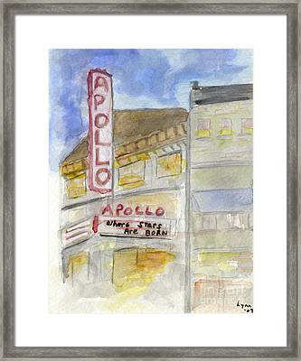 The Apollo Theatre Framed Print by AFineLyne