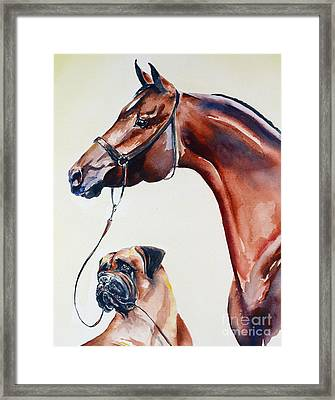The Arab And The Englishman Framed Print