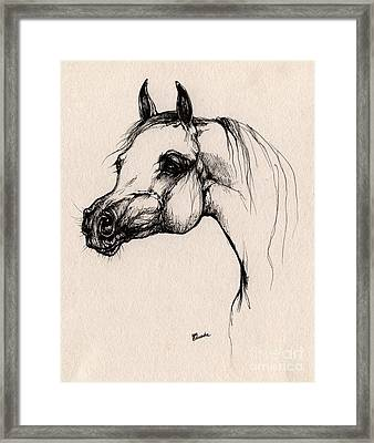 The Arabian Horse Framed Print by Angel  Tarantella
