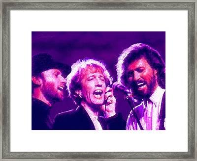 The Bee Gees Framed Print by John Travisano