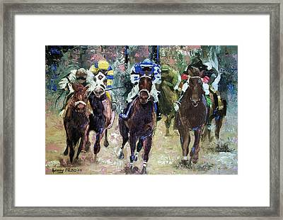 The Bets Are On Framed Print