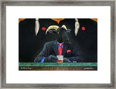 The Black Sheep... Framed Print by Will Bullas