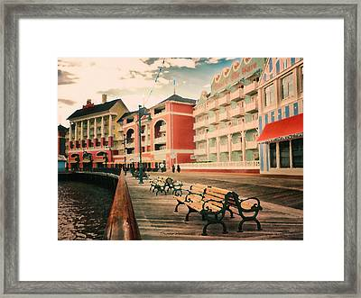 The Boardwalk At Walt Disney World Pa Framed Print by Thomas Woolworth
