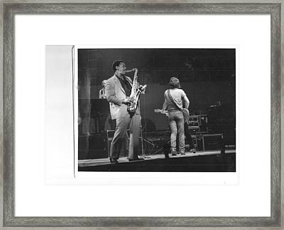 The Boss And Clarence Framed Print by Bc Adamkowski