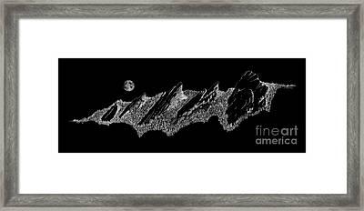 The Boulder Flatirons Framed Print