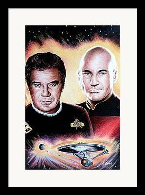William Shatner Drawings Framed Prints