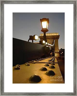 The Chain Bridge In Budapest  Framed Print