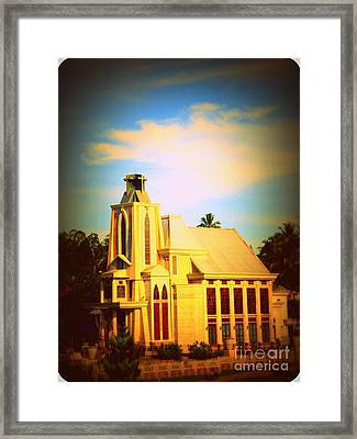 Framed Print featuring the photograph The Church In My Village by Jason Sentuf