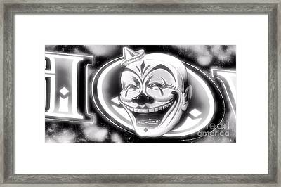 The Clown Wasn't Funny Framed Print by Newel Hunter