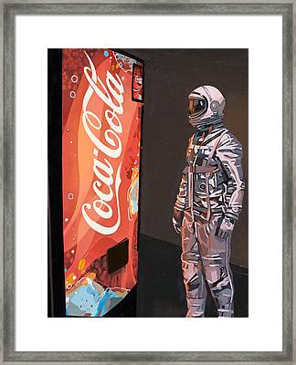 Framed Print featuring the painting The Coke Machine by Scott Listfield