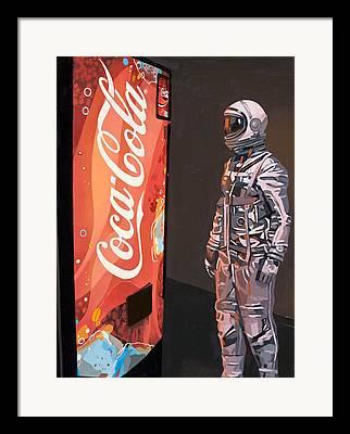 Soda Machine Framed Prints