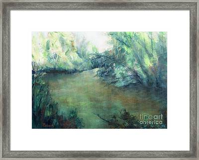 The Creek At Dawn Framed Print by Mary Lynne Powers