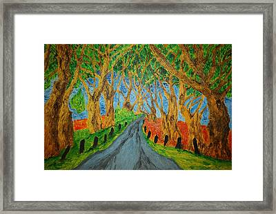 The Dark Hedges Framed Print by Paul Morgan