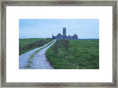 The Deserted Abbey Framed Print by Carl Purcell