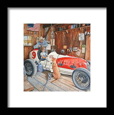 Race Car Framed Prints