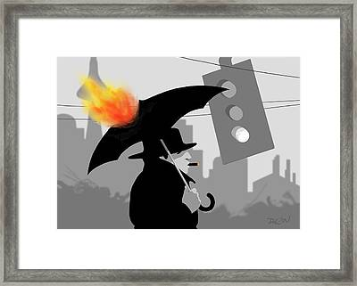 The Eastside Smoker Framed Print