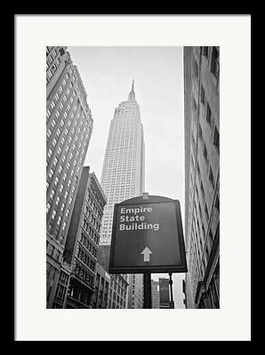 New York Signs Photographs Framed Prints