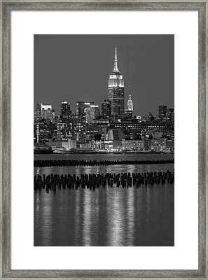 The Empire State Building Pastels II Framed Print by Susan Candelario