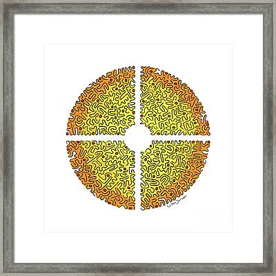 The Eye Of Creation 1 Framed Print by Willem Janssen