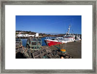 The Fishing Harbour, Dunmore East Framed Print
