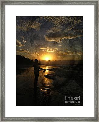 The Fishing Lure Framed Print