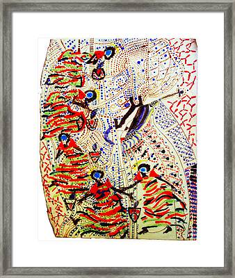 The Five Wise Virgins Framed Print by Gloria Ssali