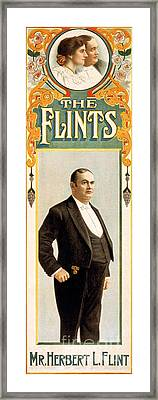 The Flints, American Hypnotists Framed Print