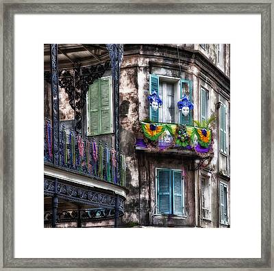 The French Quarter During Mardi Gras Framed Print