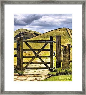 The Gate On The Ridge Framed Print by Darren Burroughs