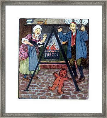 The Gingerbread Boy Framed Print by Granger