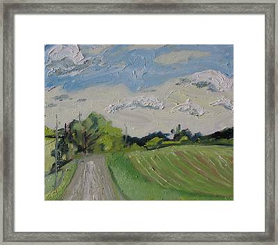 The Gravel Road Framed Print