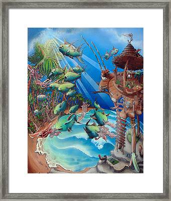 The Great Tuna Mindgration Framed Print by Stacey Heney
